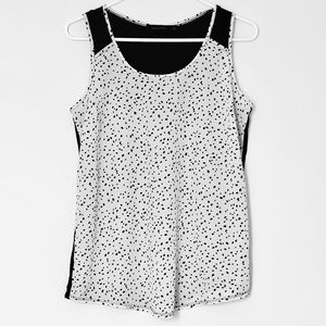 the limited dot print sleeveless top